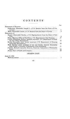 Hearing on Enterprise Zones
