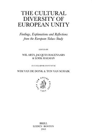 The Cultural Diversity of European Unity PDF