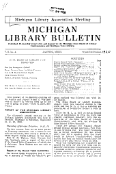 Michigan Library Bulletin: Volumes 10-17