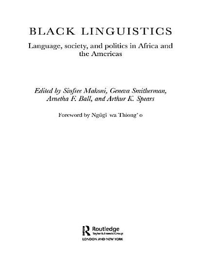 Black Linguistics PDF
