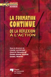 La Formation Continue: De la Réflexion à L'Action