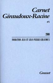 Carnet Giraudoux-Racine: Numéro6