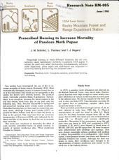 Prescribed burning to increase mortality of pandora moth pupae
