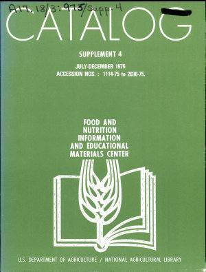 Catalog  Supplement   Food and Nutrition Information and Educational Materials Center PDF