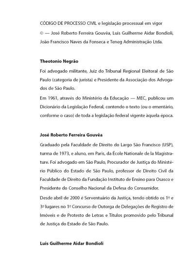 LIV DIG C  DIGO DE PROCESSO CIVIL E LEGISLA    O PROCESS DID AL PDF