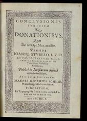 Conclusiones Iuridicae De Donationibus