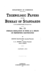 Technologic Papers of the Bureau of Standards: Issues 15-20