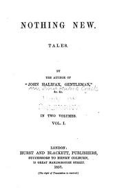 Nothing New: Tales, Volume 1