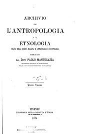 Archivio per l'antropologia e la etnologia: Volumi 5-6
