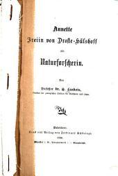 Annette Freiin von Droste-Hülshoff als Naturforscherin