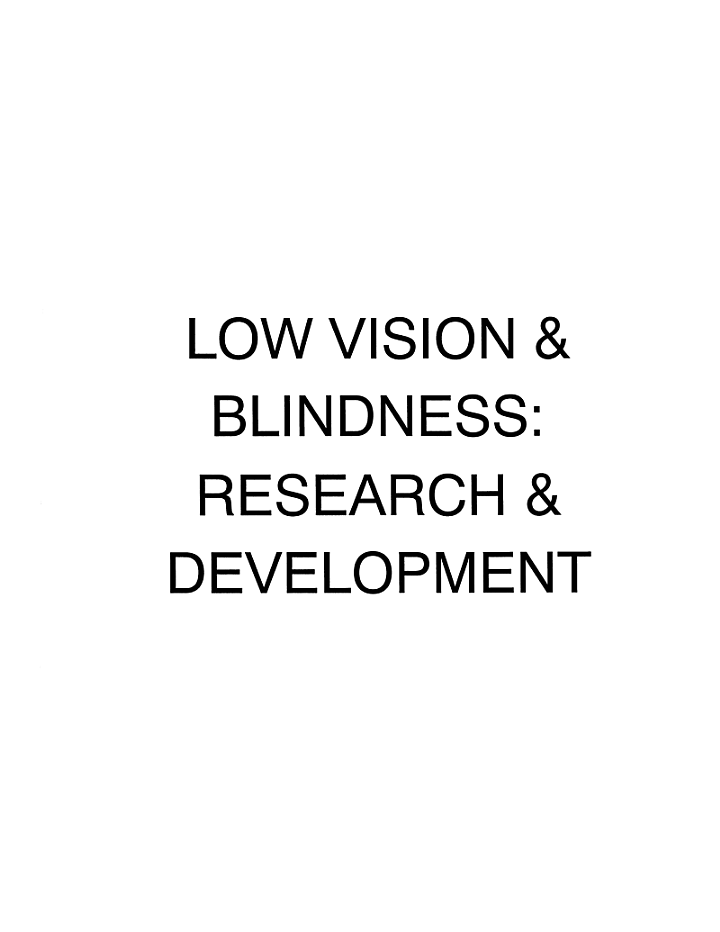 Low Vision And Blindness