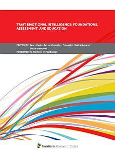 Trait Emotional Intelligence  Foundations  Assessment  and Education PDF