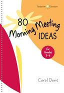 80 Morning Meeting Ideas for Grades 3 6 PDF