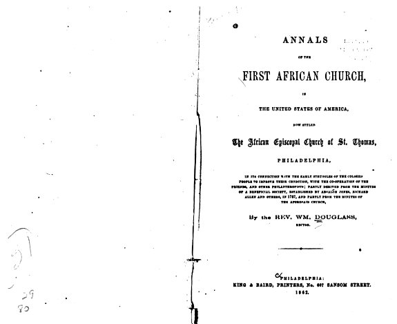 Annals of the First African Church  in the United States of America PDF