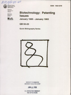 Biotechnology  Patenting Issues