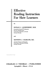 Effective Reading Instruction for Slow Learners PDF