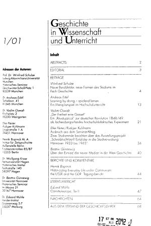 Geschichte in Wissenschaft und Unterricht PDF