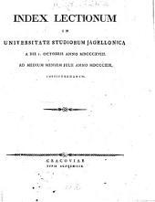 Index lectionum in Universitate Studiorum Jagellonica: 1818/19