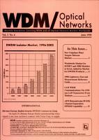 Optical Networks and WDM Newsletter PDF