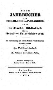 Neue Jahrbücher für Philologie und Paedagogik: Band 3