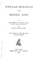 Popular Romances of the Middle Ages PDF
