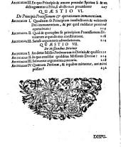 Disputatio Theologica De Ineffabili SS. Trinitatis Mysterio