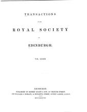 Transactions of the Royal Society of Edinburgh: Volume 33