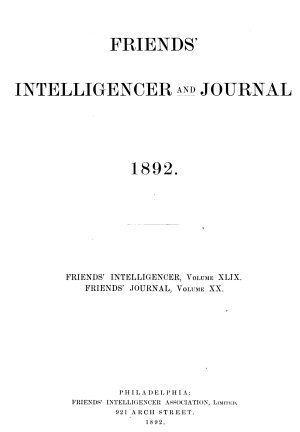 Friends  Intelligencer and Journal