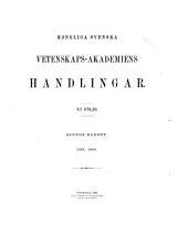 Kongliga Svenska vetenskaps-akademiens handlingar
