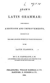 Adam S Latin Grammar