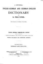 A Universal English-German and German-English Dictionary: German and English