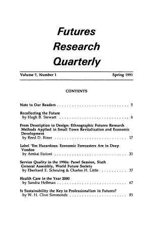 Futures Research Quarterly PDF