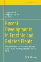 Recent Developments in Fractals and Related Fields PDF