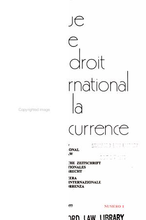 Revista Svizzera Del Diritto Internazionale Della Consorrenza PDF