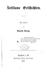 Seltsame Geschichten: Erzählt von Heinrich Koenig