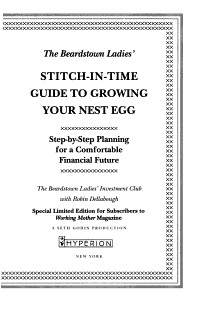 The Beardstown Ladies  Stitch In Time Guide to Growing Your Nest Egg PDF