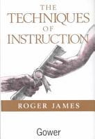 The Techniques of Instruction PDF