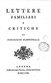 Lettere familiari e critiche