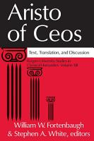 Aristo of Ceos PDF