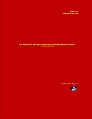 An Almanac of Contemporary Judicial Restatements  Civil Law  vol  ii PDF
