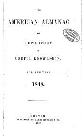 The American Almanac and Repository of Useful Knowledge for the Year: Volume 19