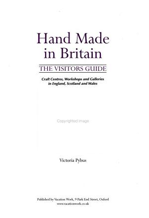 Hand Made in Britain   The Visitors Guide