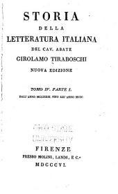 Storia della letteratura italiana: Dall' anno MCLXXXIII fino all' anno MCCC