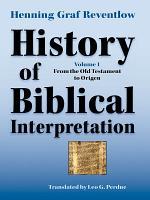 History of Biblical Interpretation  Volume 1 PDF