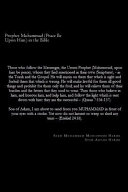 Prophet Muhammad  Peace Be Upon Him  in the Bible PDF