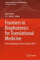 Frontiers in Biophotonics for Translational Medicine PDF