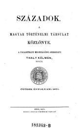 Századok: a Magyar Történelmi Társulat folyóirata, 5. kiadás