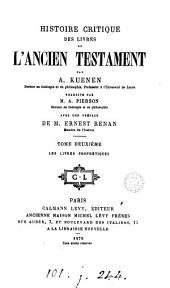 Histoire critique des livres de l'Ancien Testament, tr. par A. Pierson: Volume 2