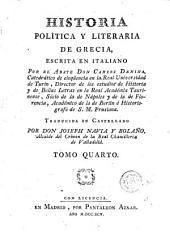 Historia política y literaria de Grecia, 4