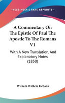A Commentary on the Epistle of Paul the Apostle to the Romans V1 PDF